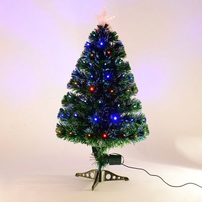 Buy Homcom 3ft Green Fibre Optic Artificial Christmas Tree Indoor