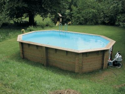 Doughboy Stretched Octagonal Wooden Pool 4.9m x 8.4m