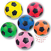 Party Bag Football Hi Bounce Jet Balls (Pack of 6)