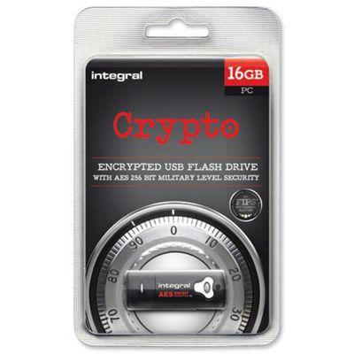 Integral Crypto INFD16GCRYPTO197 16 GB USB 2.0 Flash Drive