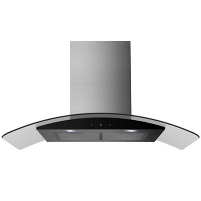 ElectrIQ EIQCURV90SCTOUCH Chimney Stainless steel