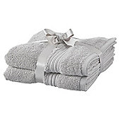 Hygro Cotton 2 Pack Hand Towels - Silver