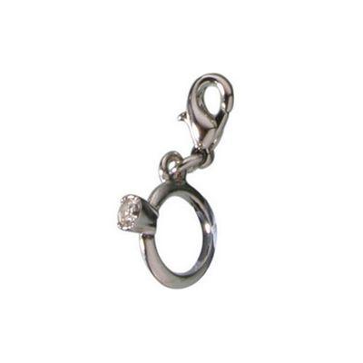 Diamond Ring Clip on Charm