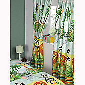 Jungle-Tastic Lined Curtains 66 inch x 54 inch (168cm x 137cm)