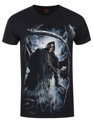 Spiral Reaper Bats Men's T-shirt, Black.