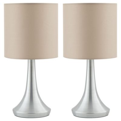 Tesco 2 Touch Lamps Taupe