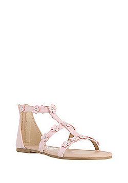 F&F Flower Gladiator Sandals - Pink