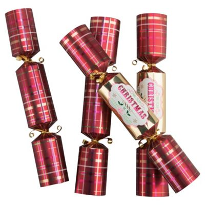 Tesco Cube Tartan Christmas Cracker, 12 Pack