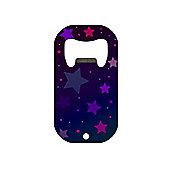 Purple Stars Mini Bar Blade Bottle Opener 7x3.8cm