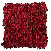 Shaggy Cushion - Red