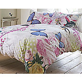 Butterflies and Flowers, Love Letters King Size Bedding - 100% Cotton