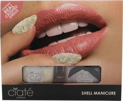 Ciaté Shell Manicure (Wish Upon A Star Fish) Gift Set 13.5ml Nail Polish in Halo + 20g Crushed Shells + Funnel + Tray