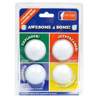 On Par 4 Joke Golf Balls