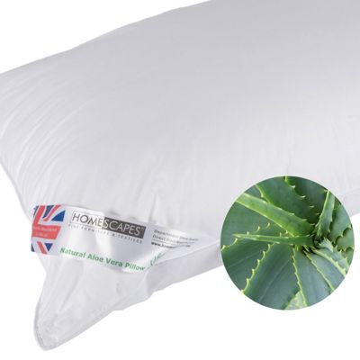 Homescapes Aloe Vera Pillow Super Microfibre Extra Fill, 48 x 74 cm