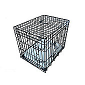 "Ellie-Bo 48"" XXL Deluxe Dog Cage Puppy Crate In Black"