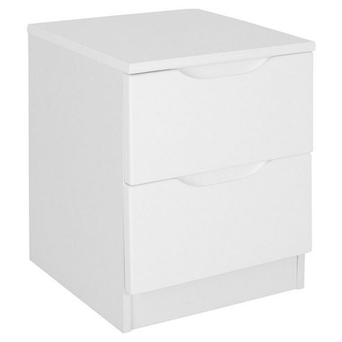 Alto Furniture Visualise Alpine 2 Drawer Bedside Table