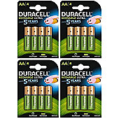 16 X Duracell AA 2500 mAh Rechargeable Batteries NiMH