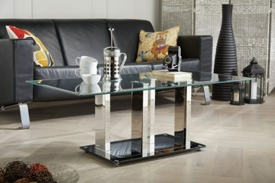 Sophia Stainless Steel And Glass Coffee Table