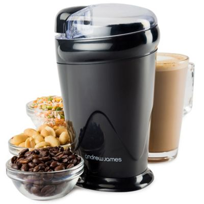 Andrew James Coffee Grinder Electric Machine for Whole Bean Nut Spice - 70g - Black