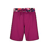 Mountain Warehouse Long Womens Boardshorts - Red