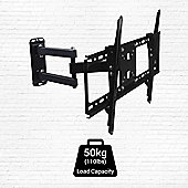 """BillyOh Vantage 4 TV Bracket Wall Mount Tilt & Swivel with 45kg Max Weight for 32 37 40 42 44 47 55 60"""" LCD LED Plasma Televisions 4K UHD"""
