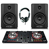 Numark Mixtrack Pro 3 DJ Contoller, M-Audio BX5 Active Monitor Pack, Includes JB's Headphones And Cables