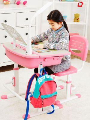Leomark Ergonomic Desk and Chair - Pink