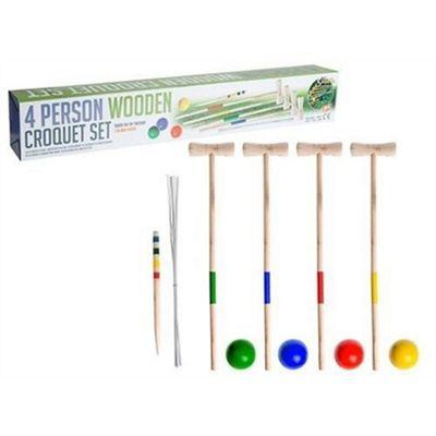 PMS 4 Person Wooden Croquet Set