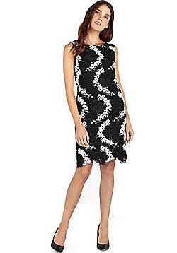 Wallis Crochet Lace Shift Dress - Black