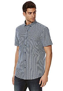 F&F Gingham Check Short Sleeve Shirt - Green