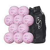 Lusum Optio 10 ball Netball Pack with Bag, Size 5