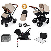 Ickle Bubba Stomp V3 AIO Isofix Travel System/Buggy Lights Pink (Black Chassis)