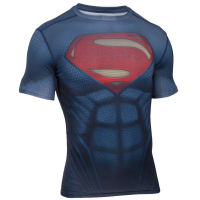 Under Armour Superman Suit SS Compression - Midnight Size - L