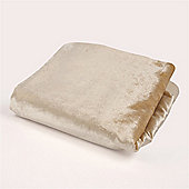 McAlister Velvet Throw - Champagne Gold Silky Touch (130x200cm)