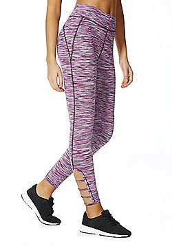 F&F Active Space Dye Ankle Grazer Leggings - Pink