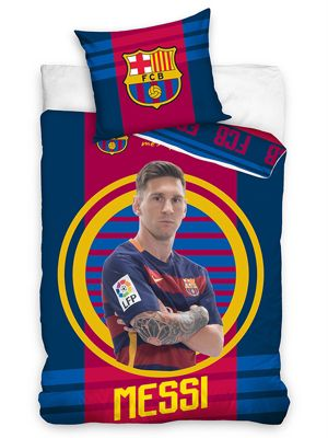 FC Barcelona Messi Target Single Duvet Cover Set
