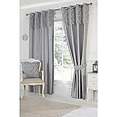 Hamilton McBride Darcy Lined Ring Top Curtains - Grey