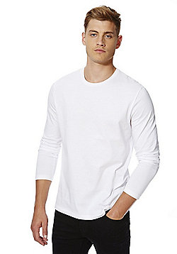 F&F Crew Neck Long Sleeve T-Shirt - White