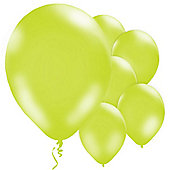 Lime Green 11 inch Latex Balloons - 10 Pack