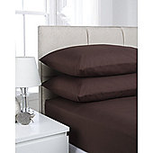 Hamilton McBride Fitted Valance Sheet - Chocolate