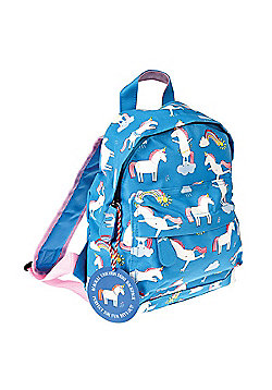 Nursery Backpacks, Kids Mini Rucksacks, Mini Toddler Backpack - Blue Unicorns