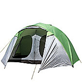 North Gear Camping Holiday Lux Waterproof 6 Man 2 Room Family Tent Green
