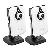 time2 720P HD Smart Home WIFI IP Security Camera - Day and Night Monitoring (Twin Pack)