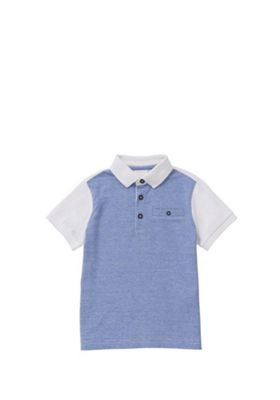 F&F Grindle Striped Polo Shirt Blue 12-18 months