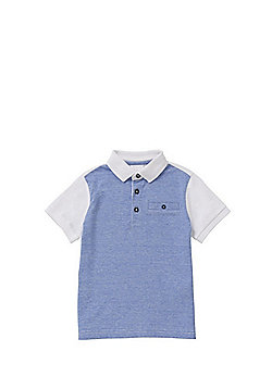 F&F Grindle Striped Polo Shirt - Blue