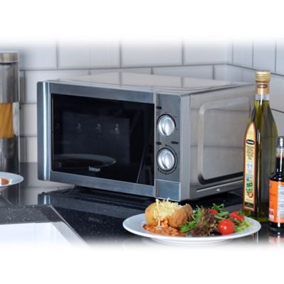 Igenix IG2860 20 Litre 800W Manual Microwave - Stainless Steel