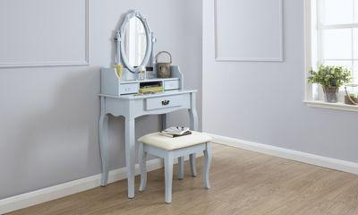 Lumberton Dressing Table & Stool Set Duck Egg Blue