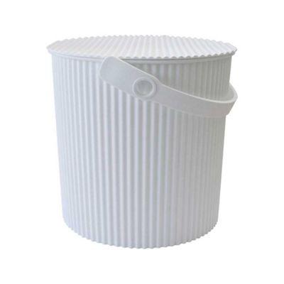 Hachiman Omnioutil Storage Bucket & Lid Medium White