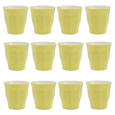 Duralex Picardie Coloured Water Tumbler Glasses - 220ml - Yellow - x12