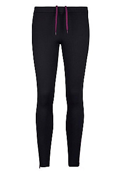 Mountain Warehouse Womens Leggings with Brushed Inner and Compression Fabric - Black